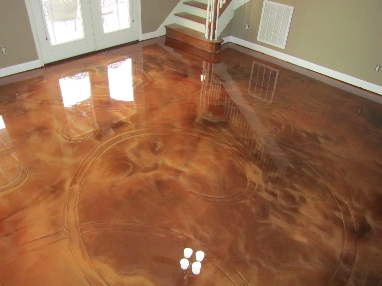 Metallic epoxy floor installation in Nashville