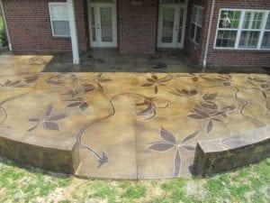 Nashville TN Concrete Stained Patio by Concrete Mystique Engraving