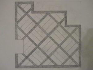 Concrete Mystique Engraving: Basket weave pergo draw