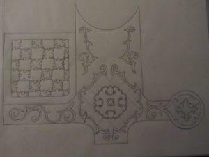 Concrete Mystique Engraving: Draw of receiving area