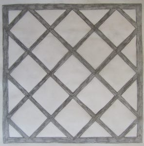 Concrete Mystique Engraving: Tiles with seamless borders draw