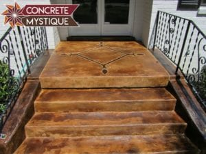 concrete stained steps