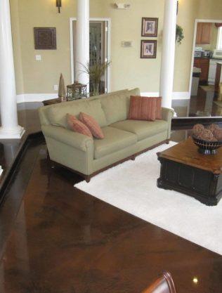 Brown Metllic Epoxy Floors Nashville Concrete Coatings Contractor