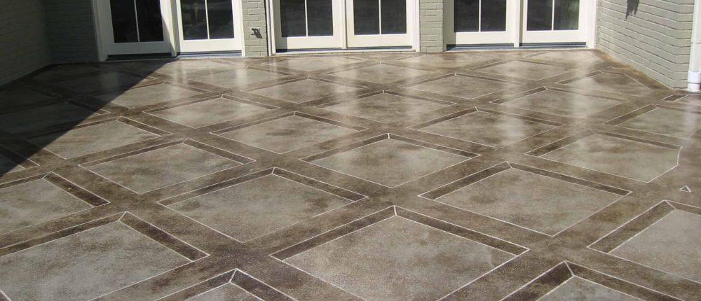 Concrete Staining Patio Finish