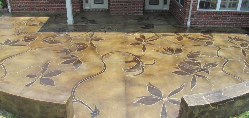 Concrete Staining Patio Nashville