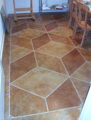 Geometric Concrete Flooring - Concrete Mystique Engraving
