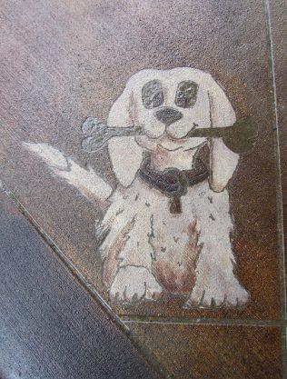 Puppy Engraved in Concrete by Concrete Mystique Engraving