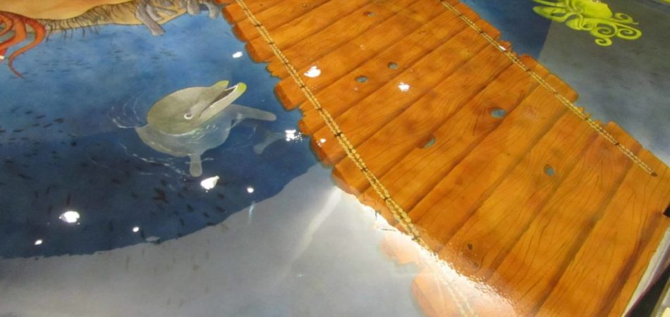 Sealife and bridge design concrete overlay 7 - Nashville Floor Project